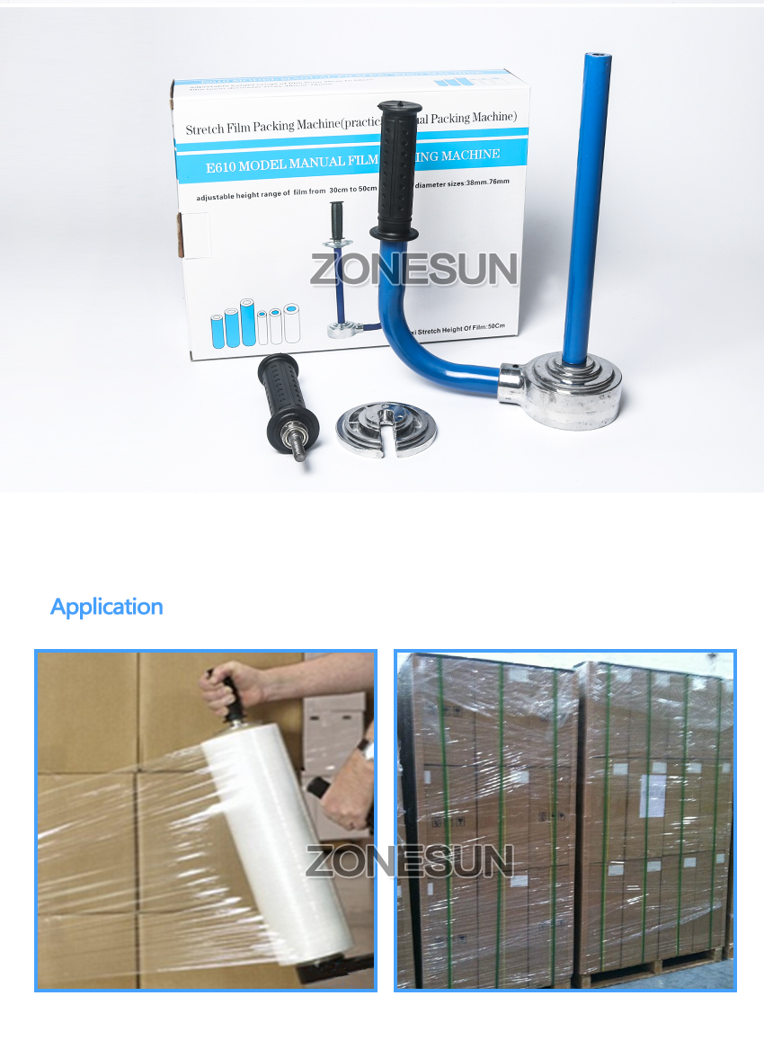 Zonesun Hot Jual Stretch Wrap Film Mesin A511 Plastik Wrapping Hitam