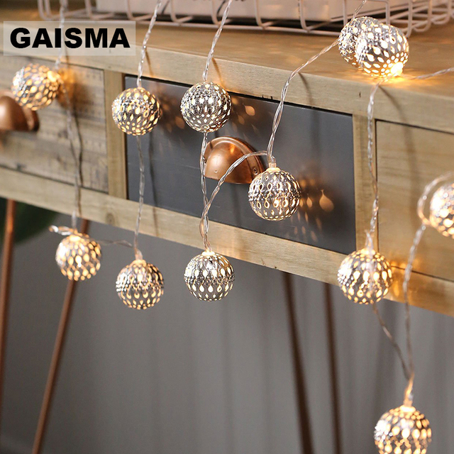 10M Ball LED Christmas Garland Lights String Bedroom Fairy Lights Decoration For Wedding Home Holiday Lighting Party Light Chain