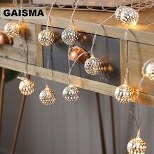 Guirlande lumineuse en boule de 10M, guirlande lumineuse de noël, décoration pour chambre à coucher, éclairage de maison, vacances, fêtes