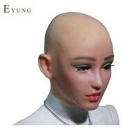 Yr-h-エルザ天使顔シリコーン現実的な女性スキンハロウィンダンスマスカレードコスプレドラッグクイーン女装男