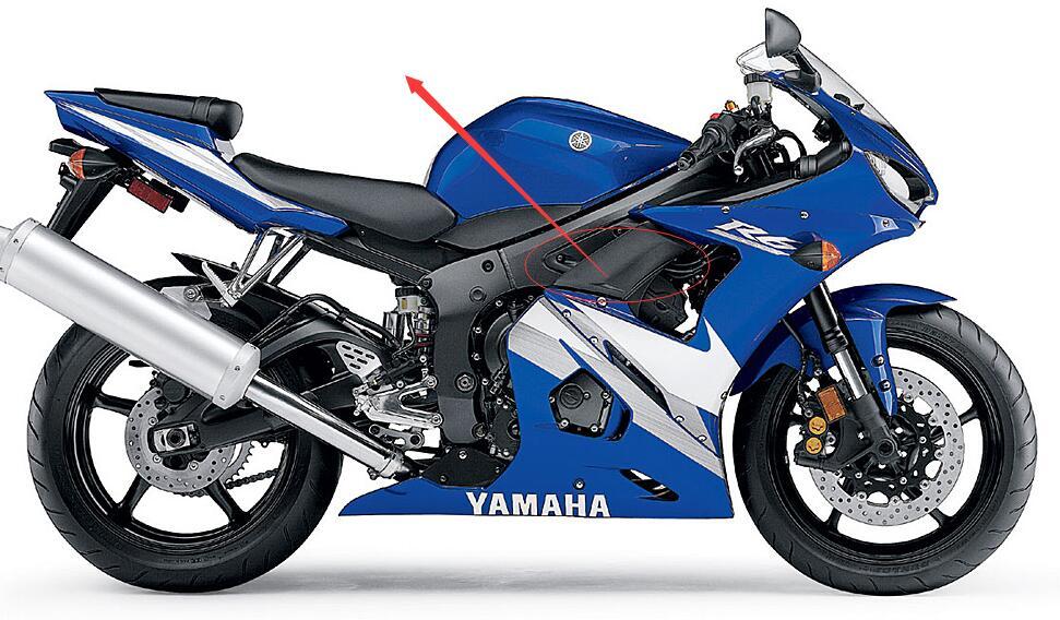 Мотоцикл обтекатель для YAMAHA R6S R6 в 2003-2006 получать инъекции доской ABS Молдинг ZXMT