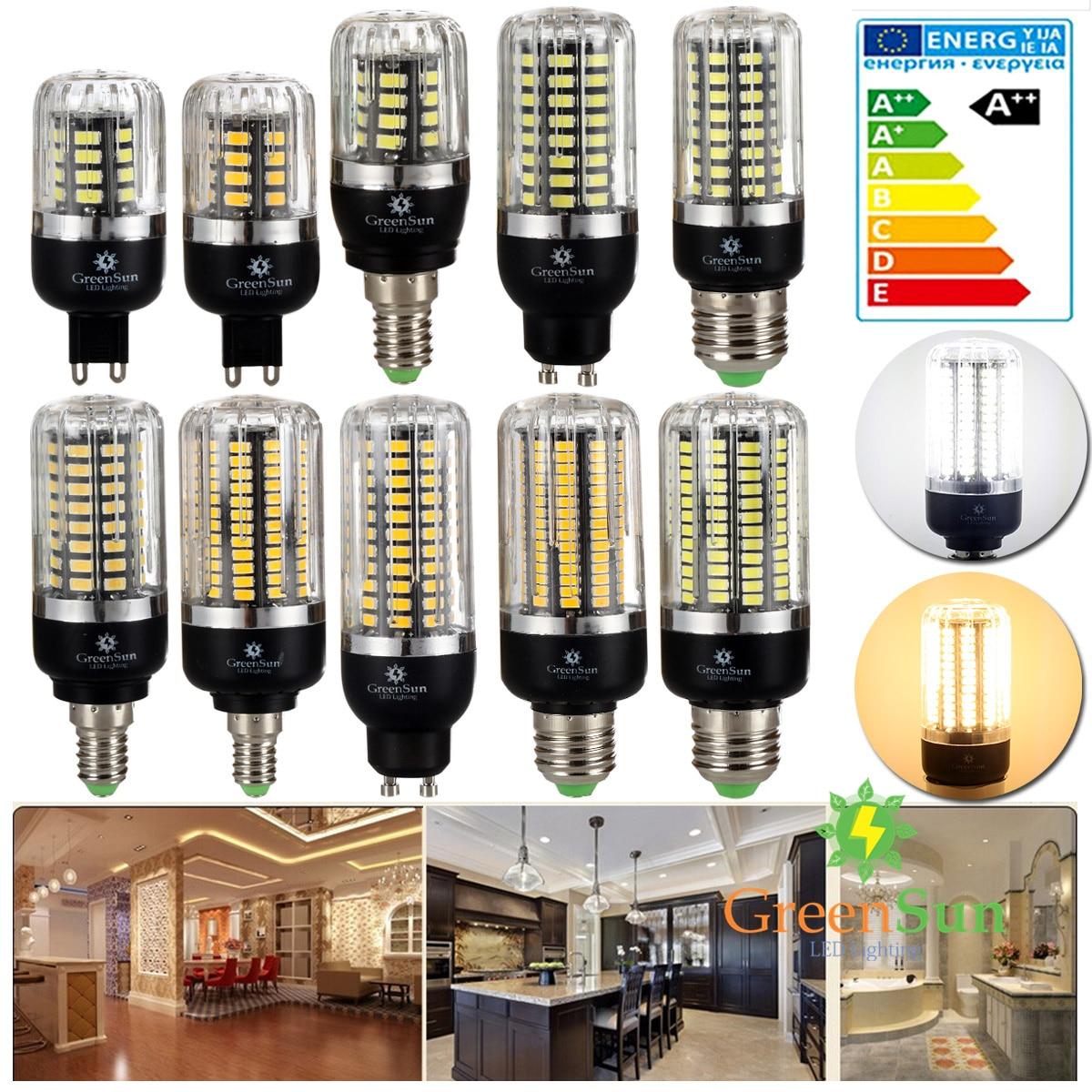 High Lumens 5736 SMD LED Corn Bulb Light E14 E27 G9 GU10 3W 5W 7W 9W 12W 15W LED Spot Light Lamp 220V Energy Saving 6pcs sencart g9 1500lm 15w smd2835 180 led corn bulb