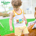 Летом Стиль Полосатый Мальчиков Одежда Набор Рукавов Девочка наряды Baby Boy Костюм Животных Печати Новорожденных Экипировка Девочка наборы
