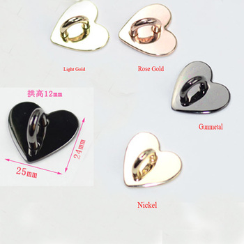 Peach heart plane luggage hardware key ring buckle, mobile phone shell shaped jewelry accessories - sale item Bag Parts & Accessories