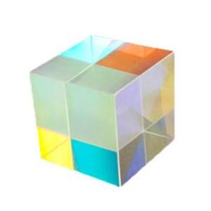 Оптическое стекло X-cube дихроический кубическая Призма RGB комбинированный сплиттер 12,7*12,7 мм светильник куб яркий луч разделяющая Призма
