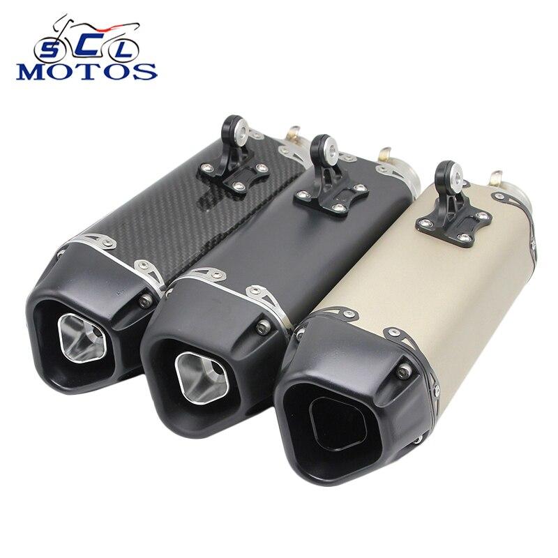 Sclmotos -51мм модифицированный мотоцикл глушитель трубы выхлопных газов с дБ убийца CBR125 СВ400 TMAX530 500 а xmax MT03 FZ6R fazer с гонки
