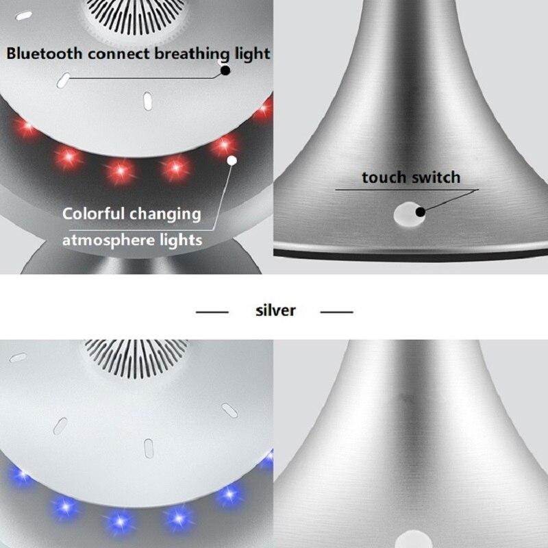Новинка НЛО Магнитная подвеска Смарт Bluetooth динамик настольная лампа изменение цвета RechargeWireless левитирующий Bluetooth Настольный светильник - 5
