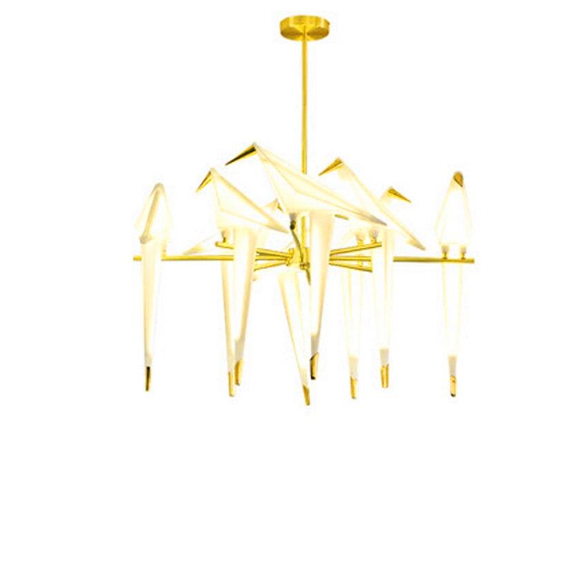 Modern LED Bird Paper Crane Metal Chandelier for Restaurant Living Room Dining Room Children 39 s Room LED Bird Design Pendant Lamp in Pendant Lights from Lights amp Lighting