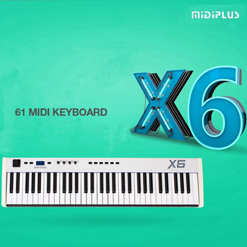 gift bitwig software midiplus x6 61key usb midi keyboard controller with semi weighted keys. Black Bedroom Furniture Sets. Home Design Ideas