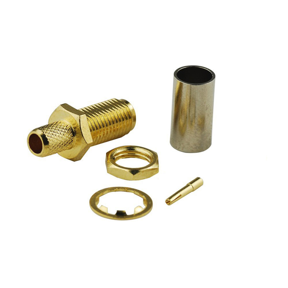 SMA Female Jack RF Coax Adapter convertor SMA Female  Straight Goldplated Gold-plated For RG58 ,RG142,LMR195 Cable SMA Female Jack RF Coax Adapter convertor SMA Female  Straight Goldplated Gold-plated For RG58 ,RG142,LMR195 Cable