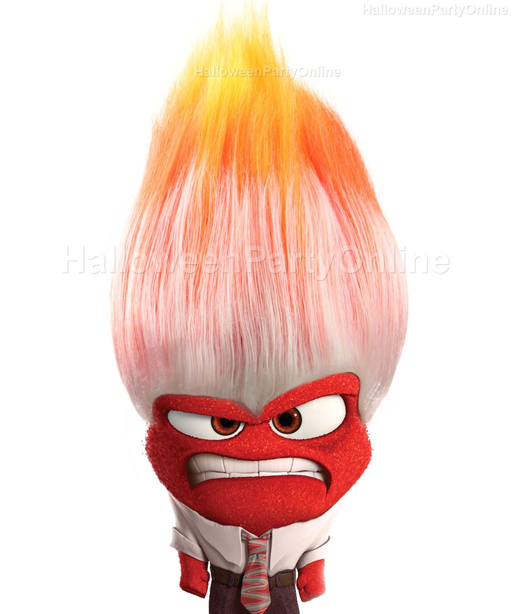 Online coloring halloween - Halloween Party Online Anger Inside Out Wig Multi Color Costume Cosplay Hm 049 Kid