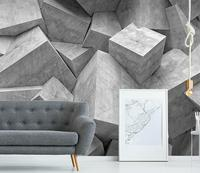 [Self Adhesive] 3D Cube Geometry Sketch 17 Wall Paper mural Wall Print Decal Wall Murals