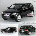 Candice guo aleación modelo de coche super cool 1:38 mini Touareg motor de vehículos de recogida de juguetes del bebé de cumpleaños regalo de navidad 1 unid