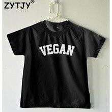 Детская футболка с надписью «Vegan», рубашка для мальчиков и девочек, детская одежда для малышей, Забавные футболки, Z-60