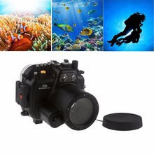 Meikon 40M Waterproof Underwater Camera Housing Case for Canon EOS 70D 18-55mm Lens meikon underwater waterproof housing case for canon eos 650d 700d