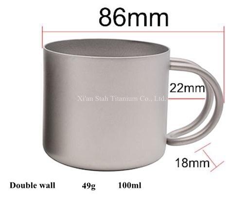 Pure Titanium Enkele Muur 950 ml Koffie Maker 230g + Filter + 3 stks 100 ml Dubbele Wand Mokken 49 g/stk Gezonde Geen nemende Anti corrosie - 6