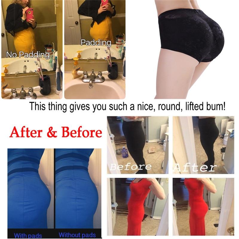 35b40107c654f NINGMI Padded Pants Shaper Seamless Big Ass Control Panties Buttocks Push  Up Lingerie Women Underwear Butt Up Brief Hip Enhancer-in Control Panties  from ...