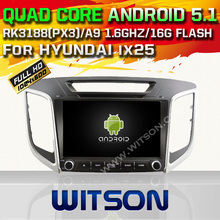 WITSON Android 5.1 Quad Core CAR DVD for HYUNDAI ix25 AUTO GPS RADIO STEREO+1024X600 SCREEN+DVR/WIFI/3G+DSP+RDS+16GB flash