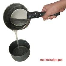 Черная сменная съемная ручка для кастрюли, ручка для кухонной посуды, универсальная сковорода, съемная, против обжига