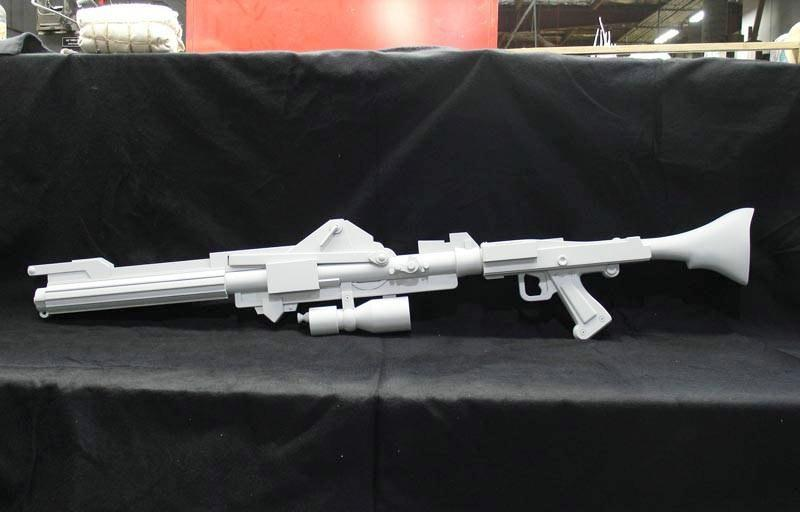 Paper Model Star Wars laser weapon model length more than 1 meter DIY Handmade Toy