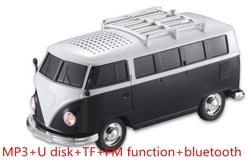 1Pcs WS-266BT Colorful Bluetooth Mini Speaker Car Shape Mini Bus Speaker Sound Box MP3++U Disk+TF+FM Function+Bluetooth