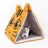 Собака продукта Товары для кошек cat Стиль кровать складная холст кошка коврик постельные принадлежности