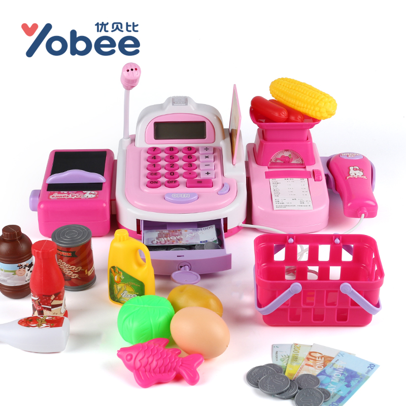 Yobee-Multi-functional-Cash-Register-Toy-Educational-Pretend-Play-Operated-Toy-Working-Calculator-and-Microphone-Scanner-1