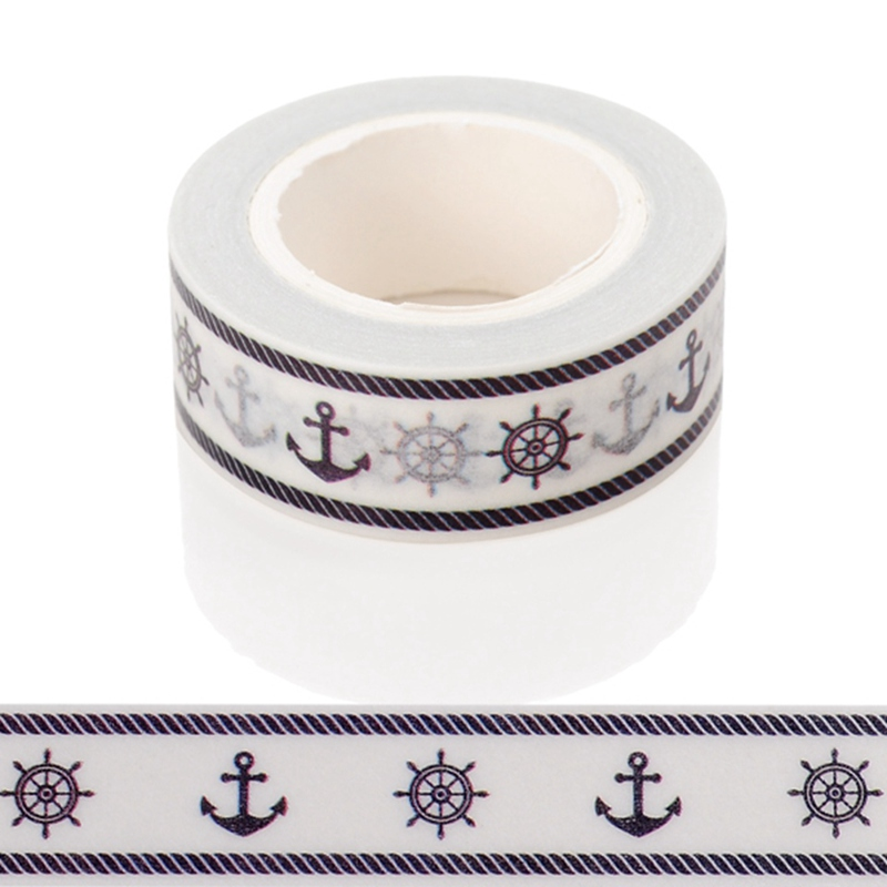 10m*15mm Creative Nautical Style Washi Tape DIY Decorative Tape Color Paper Office Adhesive Stationery Masking Tape Sticker 1PCS