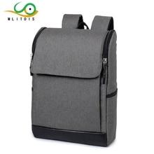 MLITDIS Простой плечо рюкзак студент школьный мужчины старшеклассники дорожная сумка мужская бизнес-офис ноутбук сумка оксфорд