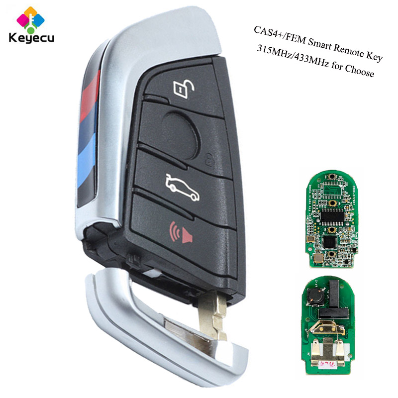 KEYECU YH Black Smart Remote Key Fob 315MHz 433MHz for BMW F Series CAS4 FEM 2011