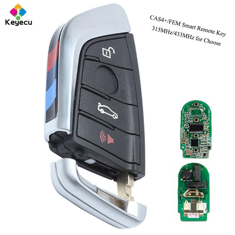 KEYECU YH Black Smart Remote key -Fob 315MHz/ 433MHz for BMW F Series CAS4+/FEM 2011-2017 X3 X4 2014-2017 F25 2014-2017 F87/F80 велосипед eltreco x4 камуфляж 2014