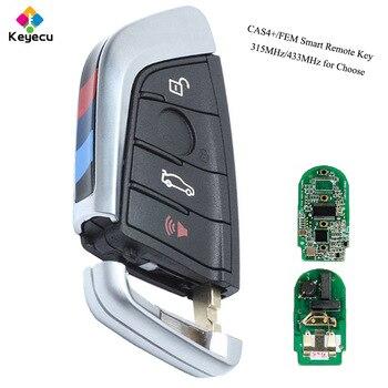 KEYECU YH Zwart Smart Remote Key-Fob 315 MHz/433 MHz voor BMW F Serie CAS4 +/ FEM 2011-2017X3X4 2014-2017 F25 2014-2017 F87/F80
