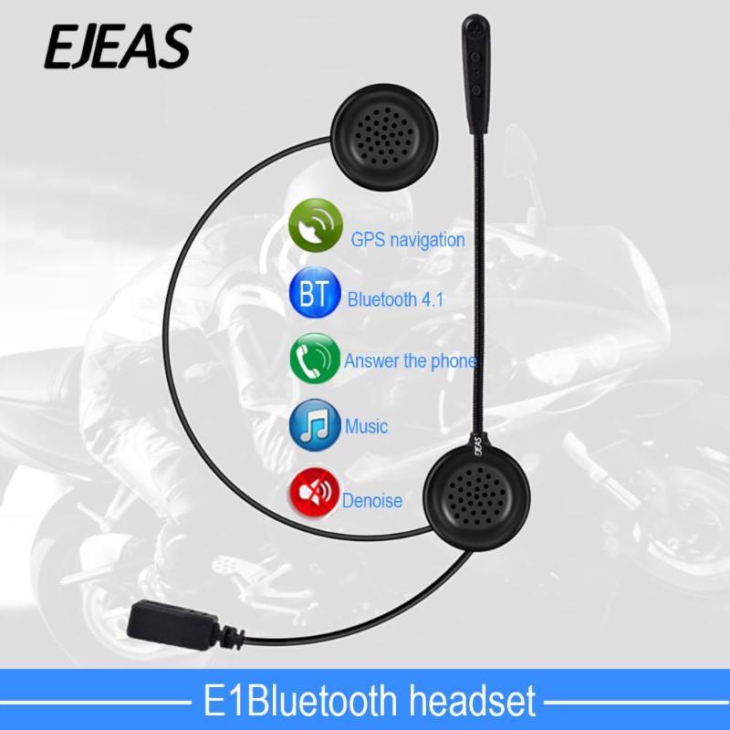EJEAS E1 Wireless Bluetooth Motorcycle Helmet Headset Intercom Interphone Moto Helmet BT 4.1 Earphone Headphone Speaker motorcycle helmet bluetooth wireless intercom headset earphone speaker