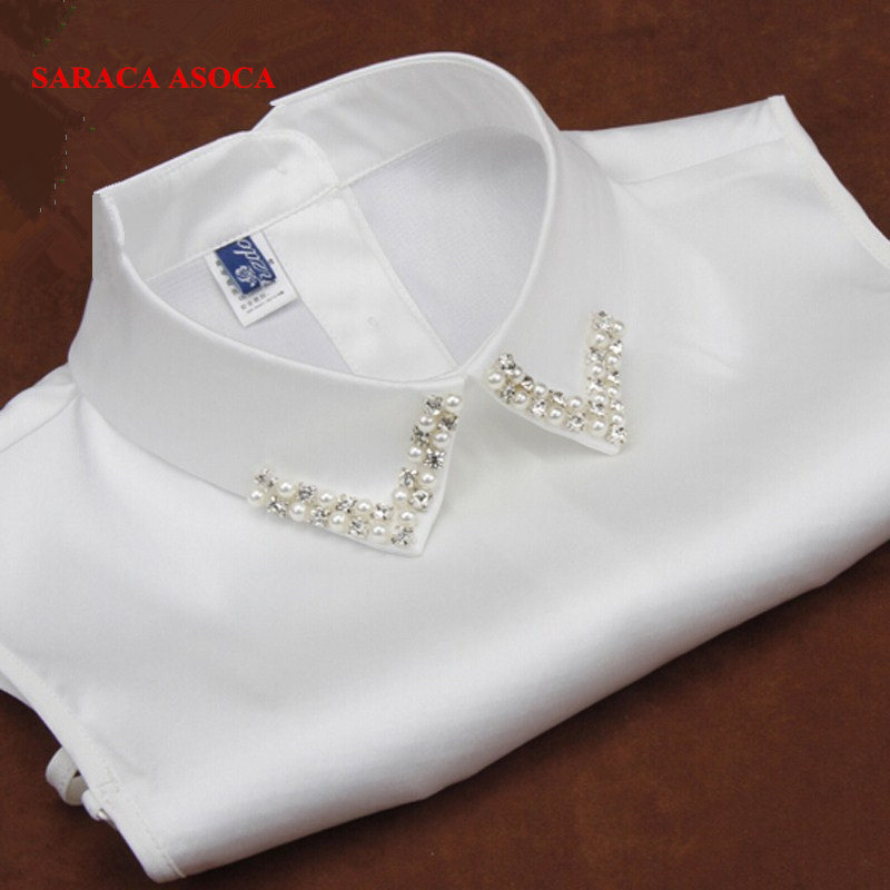New Women Peter Pan Detachable Fake Collar Apparel Accessories Strap Can Be Adjusted White False Collar For Shirts