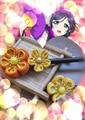 Love Live Nozomi Tojo Japanese traditional Style kimono cloth flower hairpin yukata hair decoration headwear hair accessories