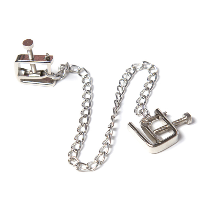 Aliexpresscom Køb 1 stk Metal lang kæde Nipple Clamps Unisex Sex Flirt Klip Bdsm-6369