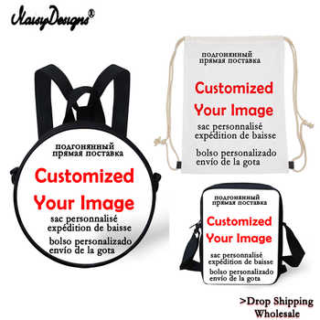 10pcs Custom your image College Teen Girls Boys Backpacks Girls School Mochila Daily with Round bags Messenger Dropshipping - DISCOUNT ITEM  0% OFF All Category