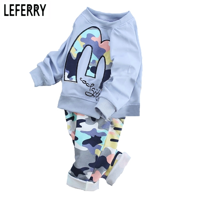 Pink/Blue/Green Kids Clothes Boys Clothing Set Baby Girls Clothes Set Toddler Girls Clothing Children Boutique 2016 New Autumn