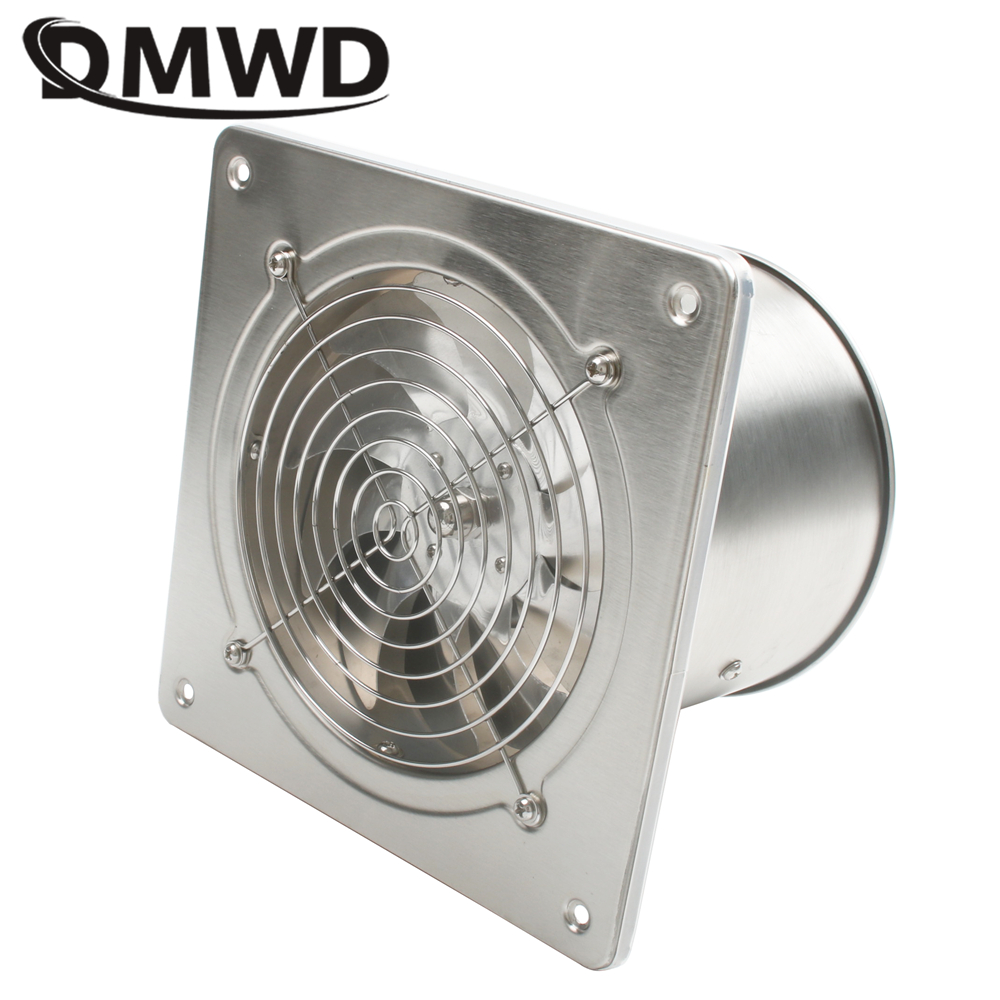 DMWD 6 Inch 45w 220v High Speed Exhaust Fan Blower Toilet Kitchen Bathroom Hanging Wall Window Ventilator Air Extractor Fans 6''