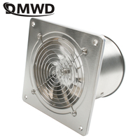 DMWD 6 inç 45w 220v yüksek hızlı egzoz üfleci tuvalet mutfak banyo asılı duvar pencere vantilatör hava aspiratör fanlar 6''