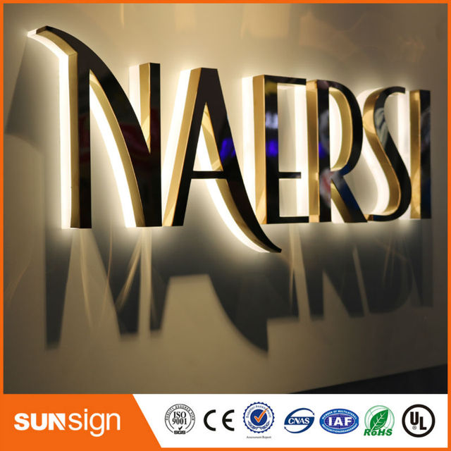 Wholesale LED acrylic letter sign advertising LED backlit signs-in  Electronic Signs from Electronic Components & Supplies