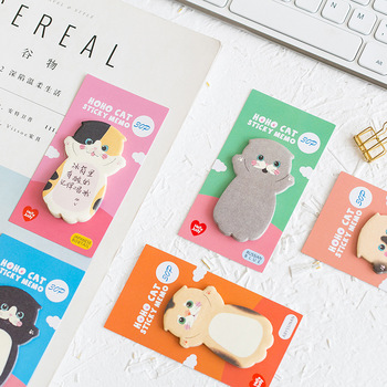 1 Pcs Cute Cat Series Sticky Note Student Message Sticker N Times Memo Pad Scrapbooking School Label Stationery 1