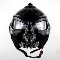 Fashion Skull Motocross Helmet Hot Personality Skull Mask Helmet Motorcycle Tyre Face Harley Racing Outdoor Helmet