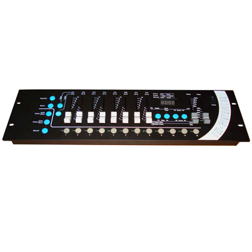 DMX512 192 channel console;can control 12 16-channel scanners or other equipment cybernetics or control