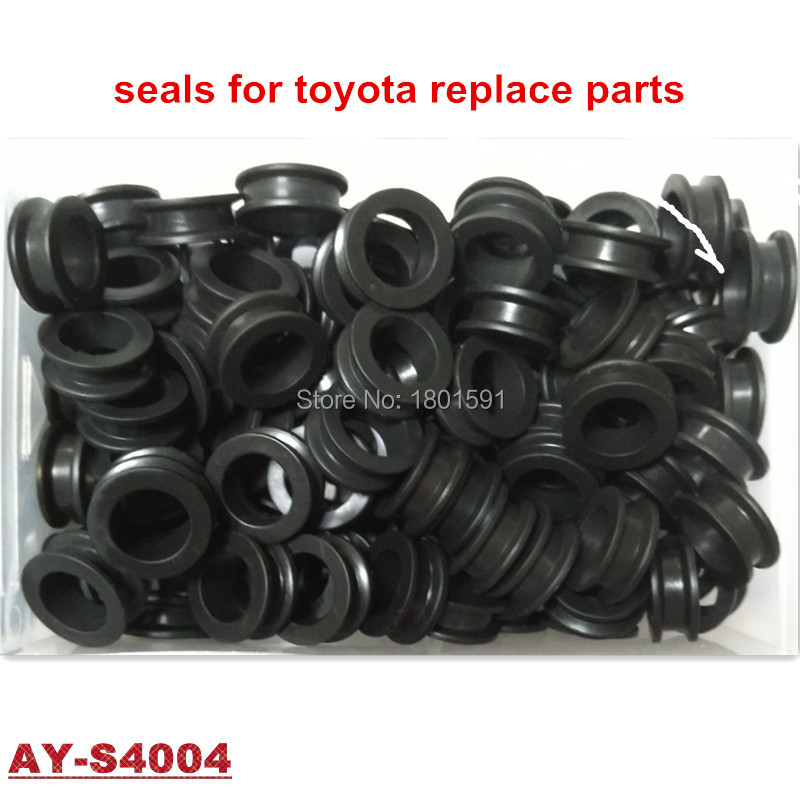 1000pieces free shipping rubber viton seals fuel injector repair kits For Toyota Injector 23209-65020 (AY-S4004) rubber seals for fluid and hydraulic systems