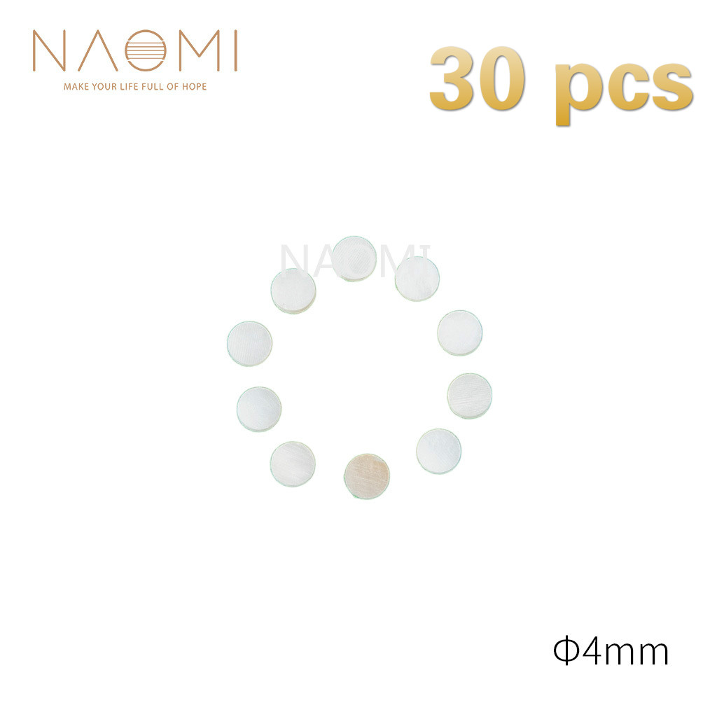 Rapture Naomi 30 Pcs Guitar Dots 4mm White Mother Of Pearl Shell Fingerboard Dots W/inlay For Electric Guitar Ukulele Fingerboards #4mm Guitar Parts & Accessories