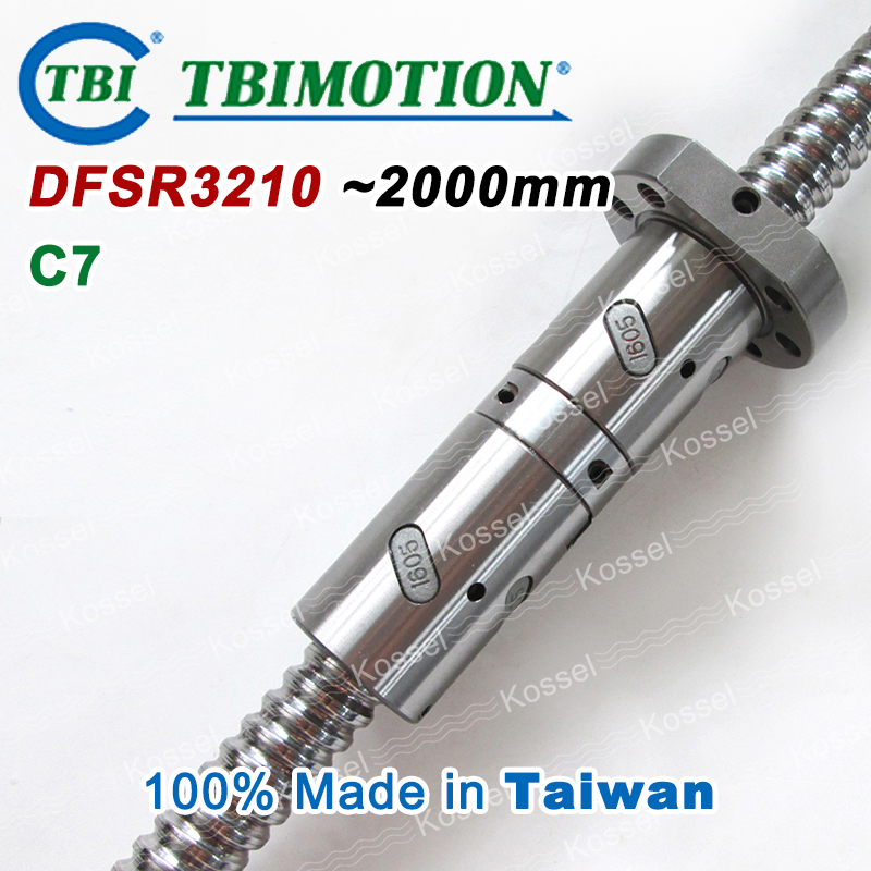 Taiwan TBI MOTION DFS3210 2000mm Rolled C7 Ball screw with DFS 3210 Ballscrew Nut паяльник bao workers in taiwan pd 372 25mm