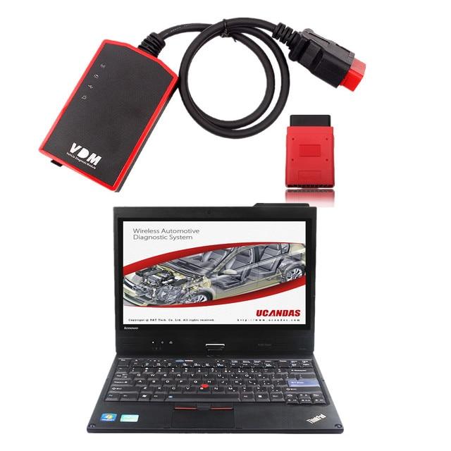 100% Original WIFI Full System UCANDAS VDM Vehicle Diagnostic Tool Ucandas VDM V3.8 With second-hand X220 tablet ready to use