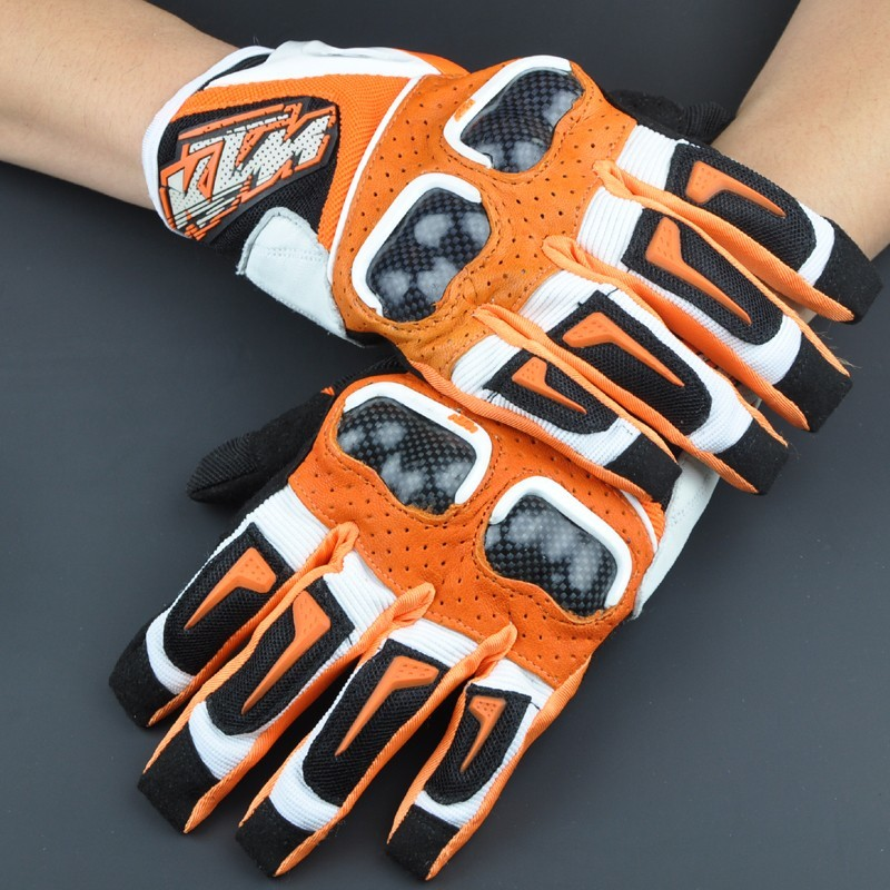 New for KTM leather carbon fiber gloves Cross country gloves motorcycle locomotive racing gloves riding shatter-resistant gloves лонгслив dzeta