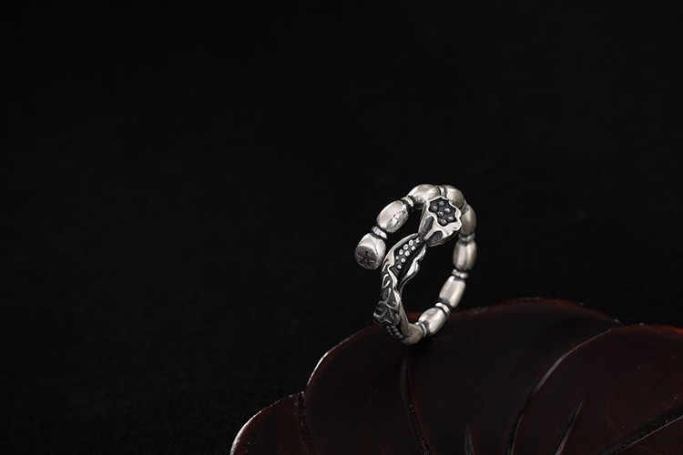 KJJEAXCMY ブティック jewelryar S990 足レンコン蓮キャノピーオープニングスターリングシルバーリング